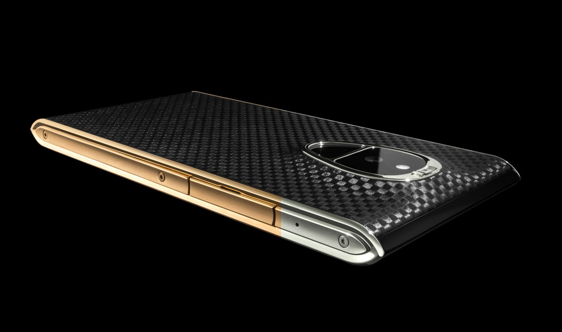Solarin smartphone gold and silver