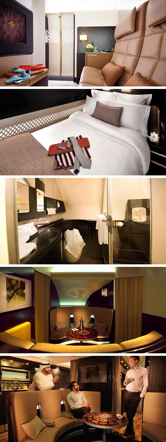 The interiors of Etihad A380 The Residence